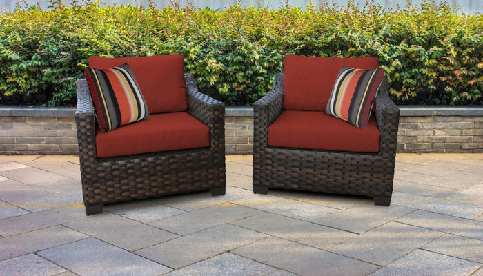 Patio Furniture - Wicker Patio Furniture – Set Of 2 Club Chairs Kathy Ireland Homes & Gardens