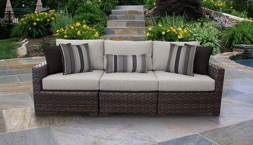 Patio Furniture - Wicker Patio Furniture – 3pc Sofa With Clips – Kathy Ireland