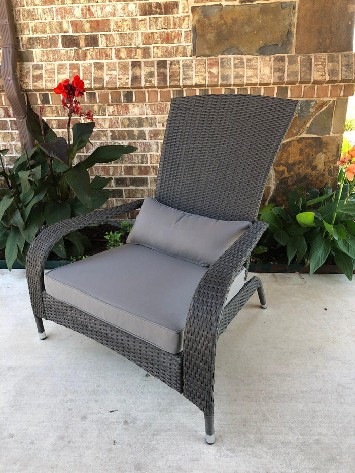 Patio Armchair – Resin Wicker & Steel – Bentana
