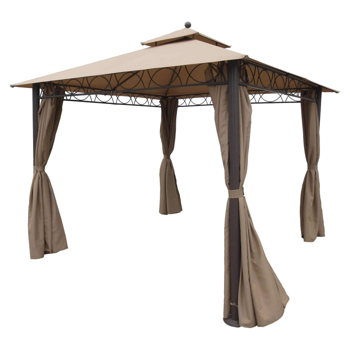 Gazebo - Portable Gazebo - With Drapes - Double Vented - Aluminum/Polyester - 9.8 Feet