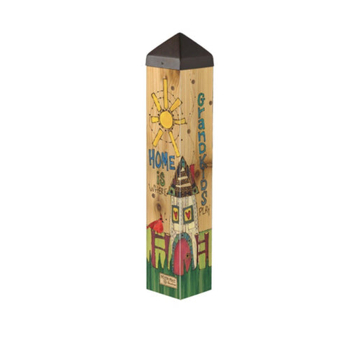 Art Poles - Art Pole - Where Grandkids Play - 20 Inch
