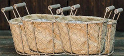 Baskets - Patio Farmhouse Mini Baskets - Set Of 4