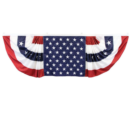 Patriotic Decor - Patriotic Flag Bunting 9' X 3'
