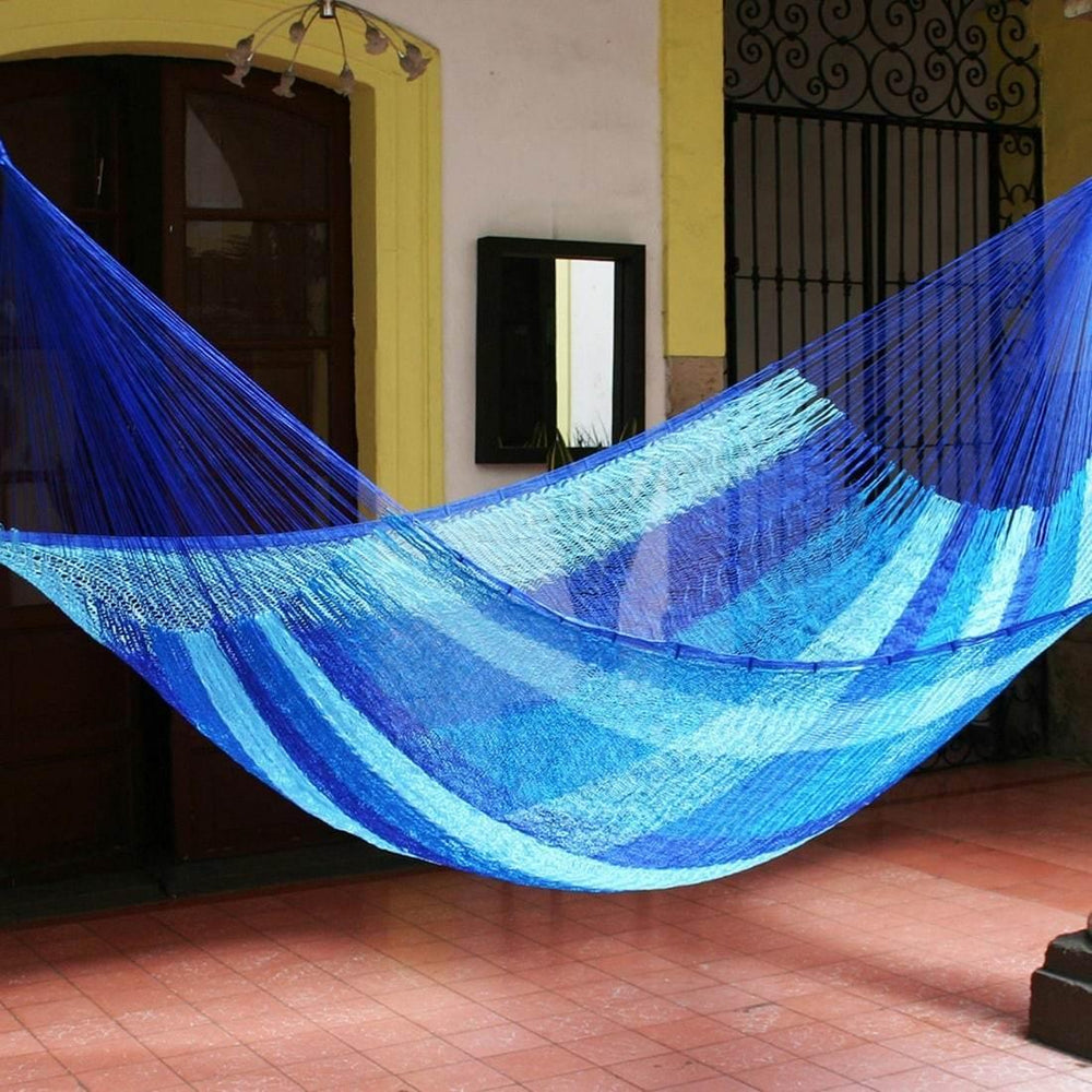 Hammock - Blue Caribbean Nylon Single Hammock