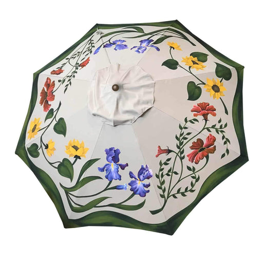 Garden Art - Hand Painted Custom Garden Art Umbrella - Lazy California Garden