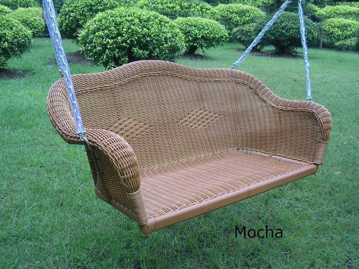 Loveseat Swing - Loveseat Swing – Resin Wicker & Steel – Maui