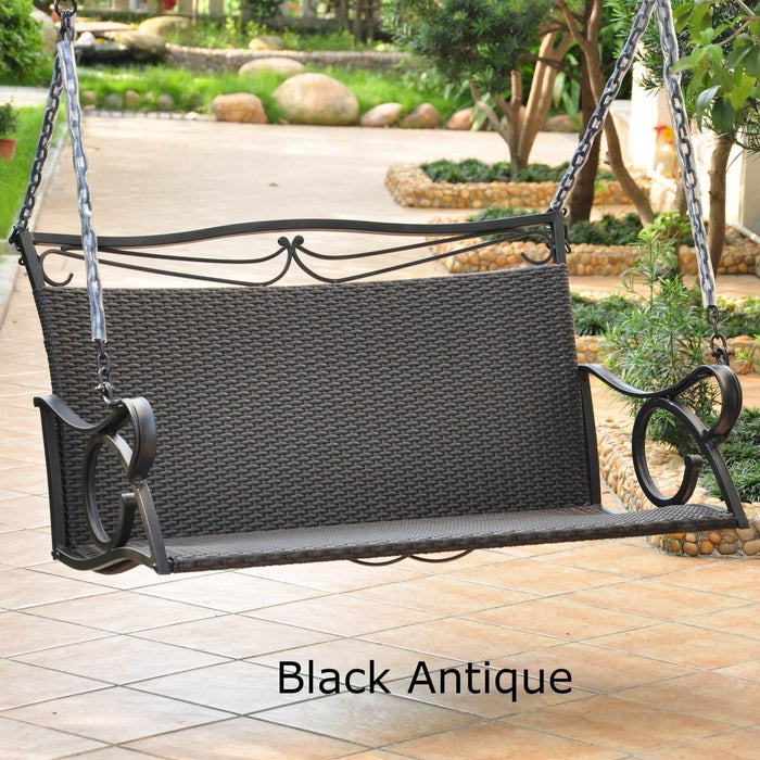Loveseat Swing - Loveseat Swing – Resin Wicker & Steel – Valencia