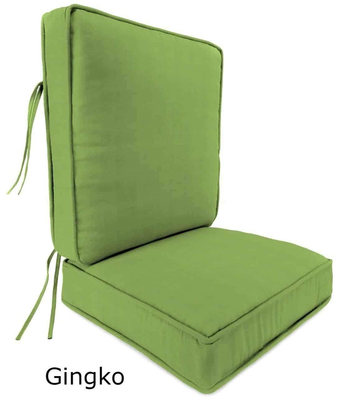 Outdoor Cushions - Outdoor Chair Cushions – 2-Piece - Sunbrella® - Box Edge
