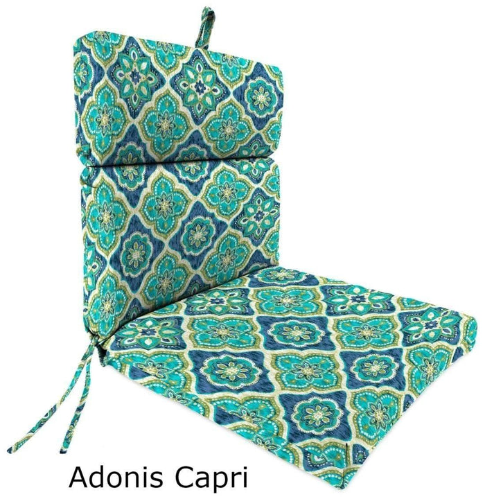 Outdoor Cushions - Outdoor Chair Cushions  – Spun Polyester, Hinged, French Edge