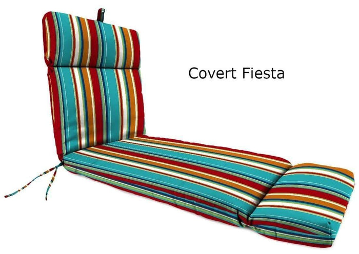 Outdoor Cushions - Outdoor Chaise Lounge Cushions  – Spun Polyester, Hinged, French Edge