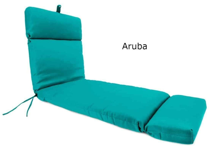 Outdoor Cushions - Outdoor Chaise Lounge Cushions  – Sunbrella®, Hinged, French Edge