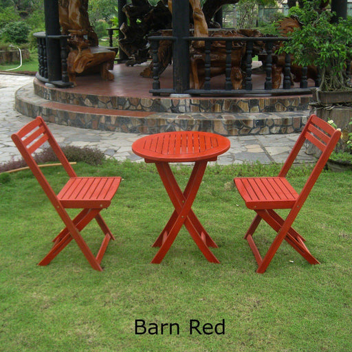 Outdoor Furniture - Bistro Set – 3 Piece – Folding - Acacia Wood - Royal Fiji