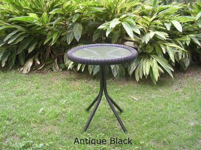 Outdoor Furniture - Outdoor Bistro Table – Resin Wicker & Steel – Maui