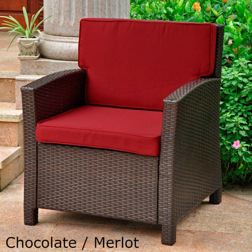 Outdoor Furniture - Outdoor Deep Seating Chair – Resin Wicker & Steel – With Cushions – Valencia