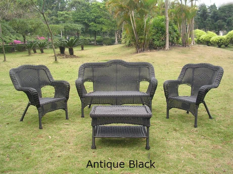 Superieur Outdoor Furniture   Outdoor Seating Group U2013 4 Piece Resin Wicker U0026 Steel U2013  Maui