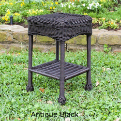 Outdoor Furniture - Outdoor Side Table – Resin Wicker & Steel – Maui