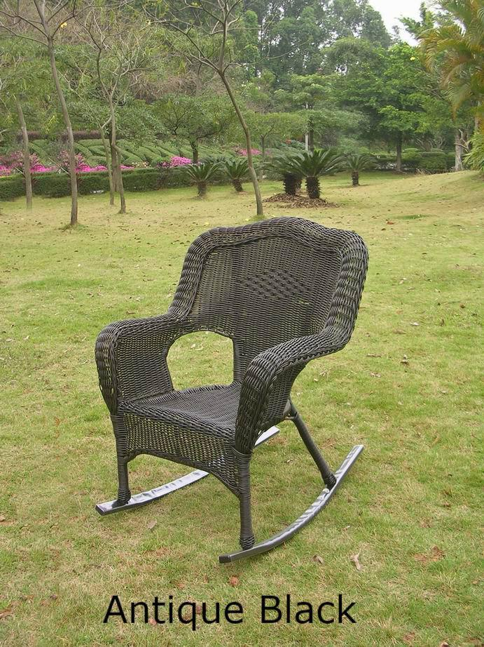 Outdoor Furniture - Patio Rockers - Set Of 2 – Resin Wicker & Steel – Maui