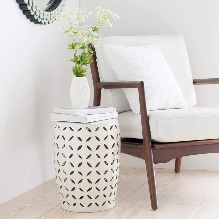 Patio Side Table - Ceramic Stool/Side Table Chantilly