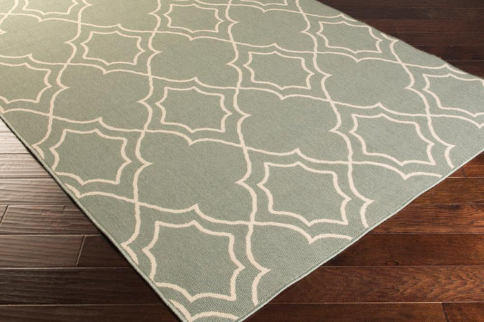 Rugs - Outdoor Rugs Alfresco - Sage & Cream