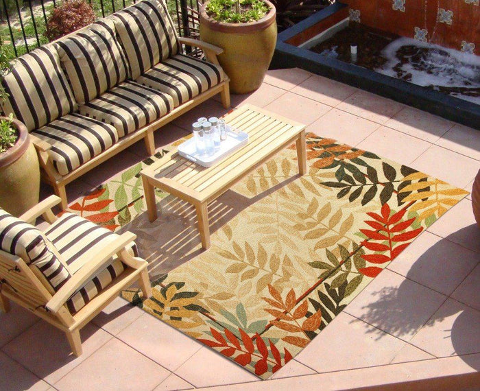 Rugs - Outdoor Rugs Painted Rain Forest