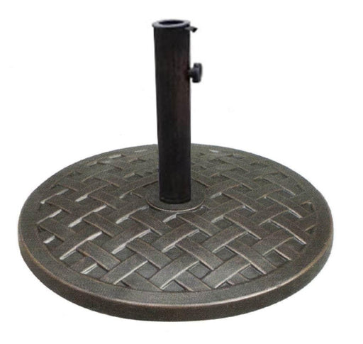 Umbrella Base - Umbrella Base Polystone Round 19 Inches