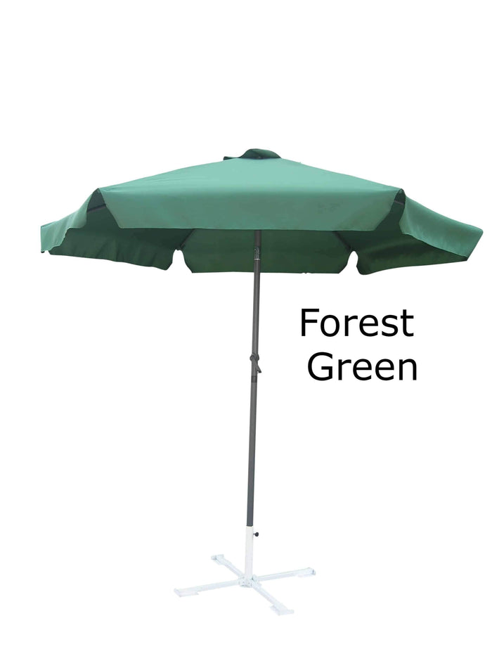 Umbrella - Patio Umbrella Aluminum 8 Feet Crank & Tilt Forest Green