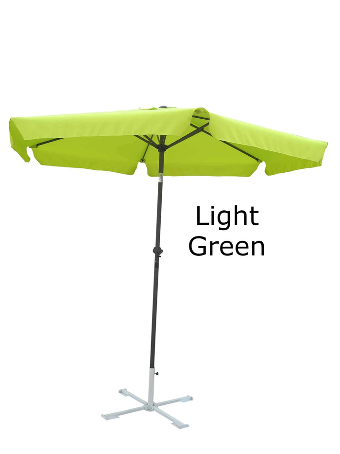 Umbrella - Patio Umbrella Aluminum 8 Feet Crank & Tilt Light Green