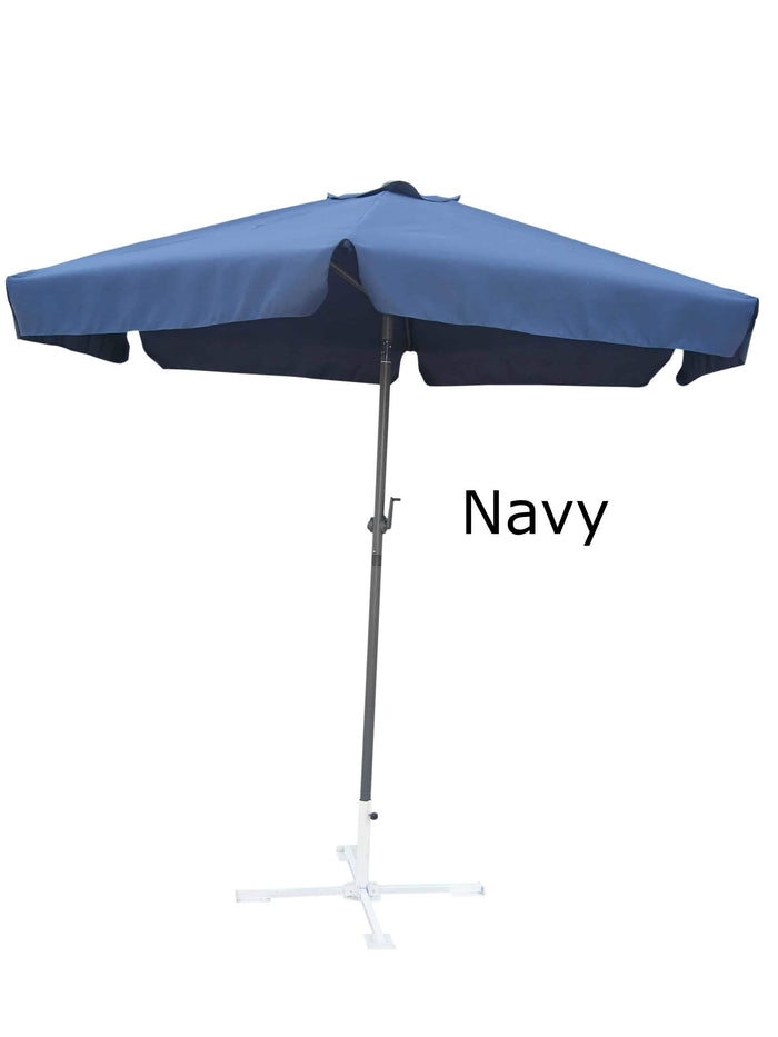 Umbrella - Patio Umbrella Aluminum 8 Feet Crank & Tilt Navy