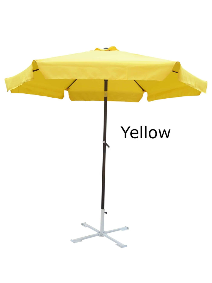 Umbrella - Patio Umbrella Aluminum 8 Feet Crank & Tilt Yellow