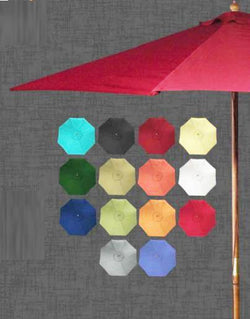 Umbrella - Umbrella Solid Birch Wood 9 Feet