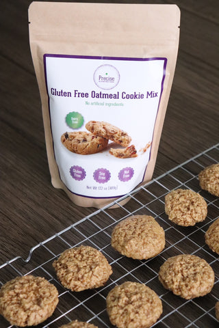 precise gluten free oatmeal cookie mix