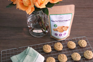 Precise gluten free oatmeal cookie mix soy nut peanut vegan
