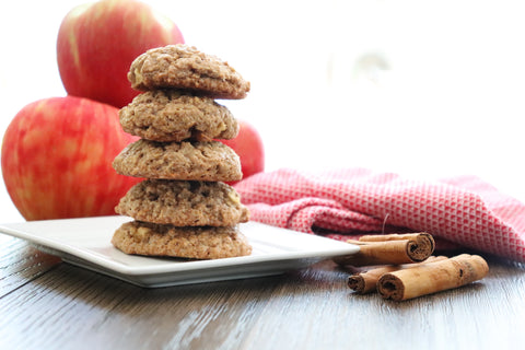 precise gluten free apple cinnamon oatmeal cookies