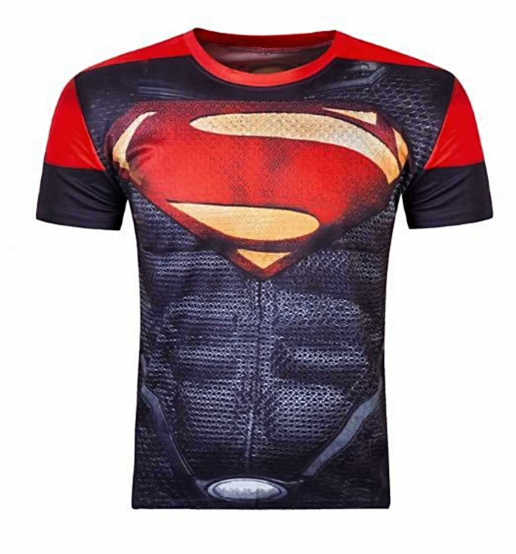 Superman Red Compression Short Sleeve