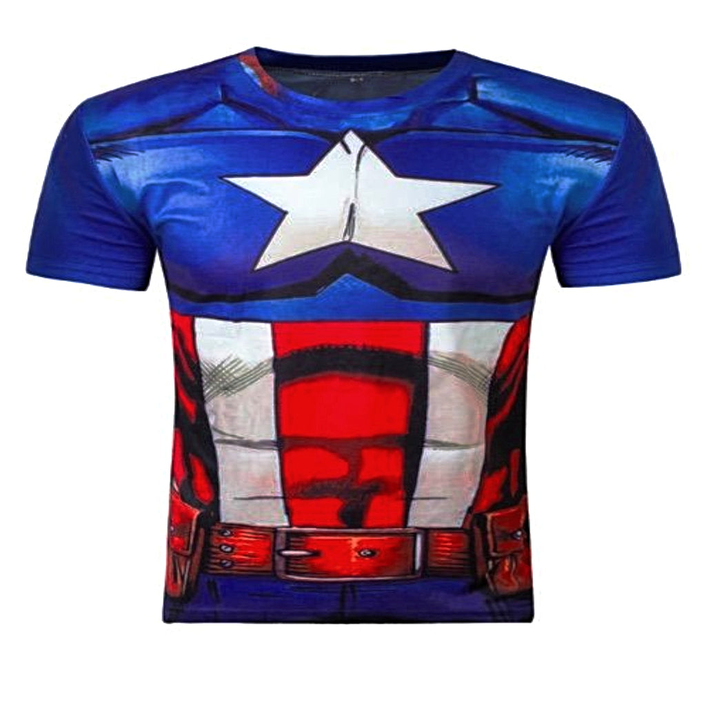 Captain America Compression Short Sleeve
