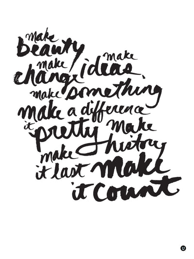 Make it Count: 18x24 poster