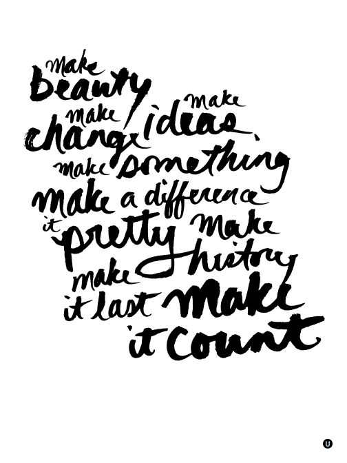 Make it Count: UPPERCASE creative manifesto