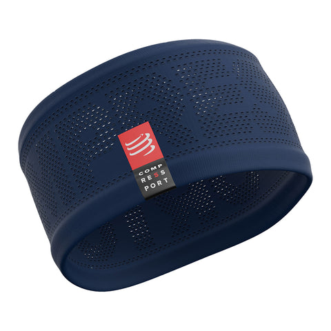 Compressport Headband On/Off Unisex - Azul Oscuro/Rojo