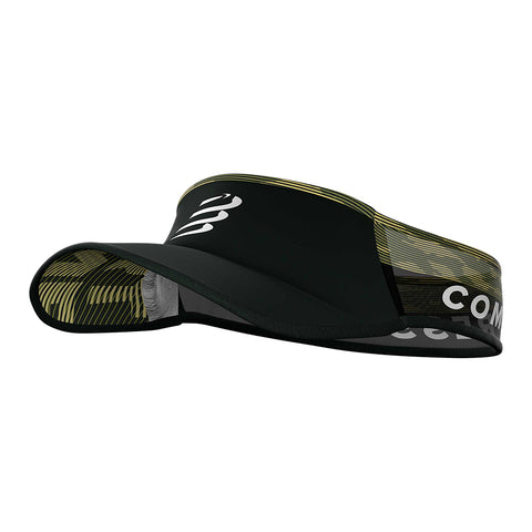 Compressport Visera Ultralight - Negro/Verde/Blanco