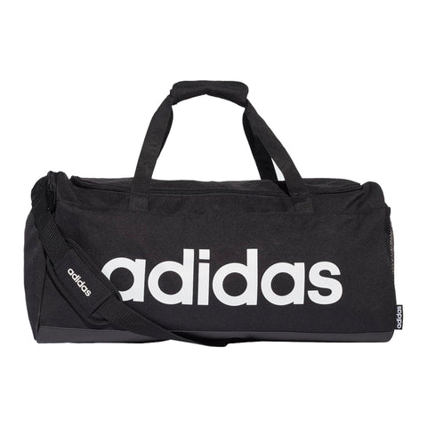 Adidas Linear Duffel Bag Hombre/Mujer - Negro/Blanco