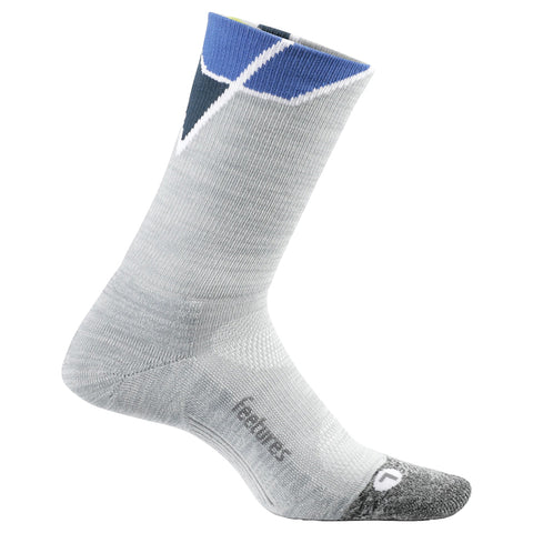 Feetures Elite Light Cushion Mini Crew Unisex - Gris/Azul