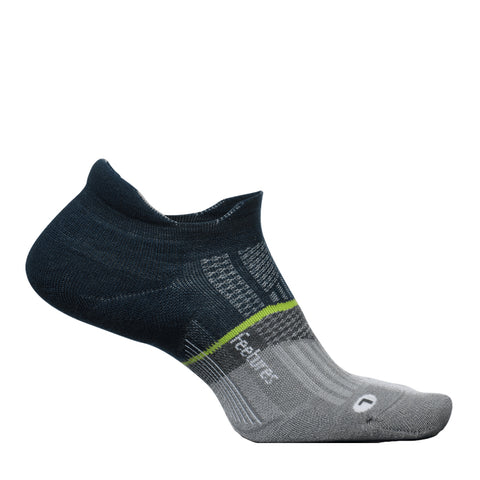 Feetures Merino 10 Ultra Light No Show Unisex - Azul Oscuro/Gris