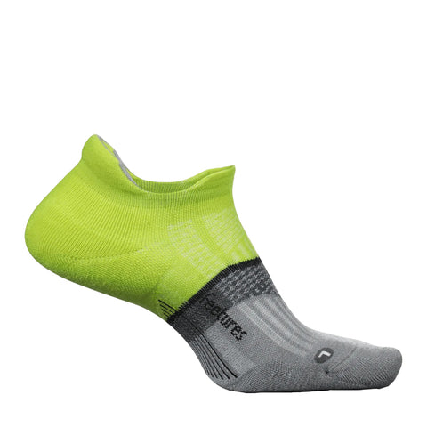 Feetures Merino 10 Ultra Light No Show Unisex - Verde/Gris