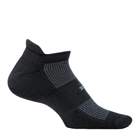 Feetures High Performance Ultra Light No Show Tab - Negro/Gris
