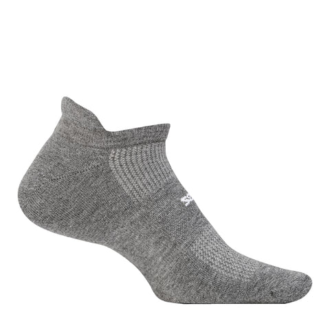 Feetures High Performance Ultra Light No Show Unisex - Gris/Blanco