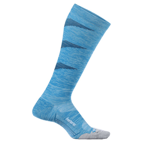 Feetures Graduated Compression Light Cushion Knee High - Azul Claro/Azul Oscuro