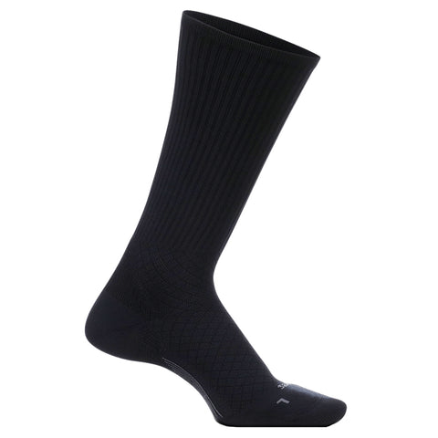 Feetures Media Relief Sock Ultra Light Crew - Negro