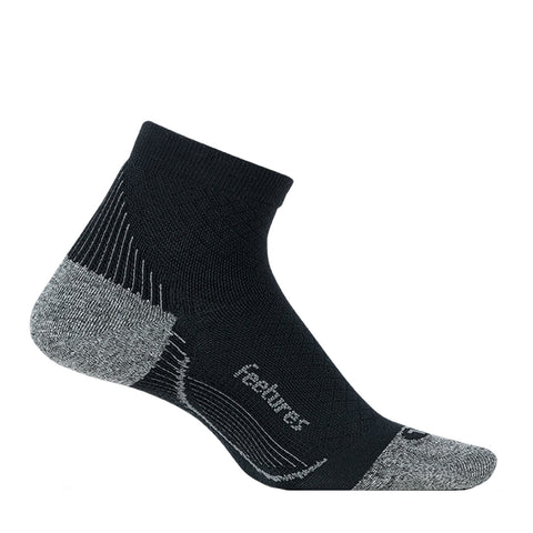 Feetures Plantar Fasciitis Relief Sock Ultra Light Quarter Unisex - Negro/Gris