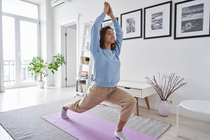 habits of health: woman doing yoga