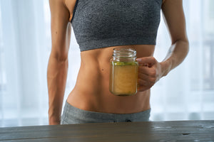 Bone broth for weight loss: Woman holding a mug